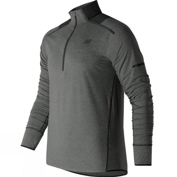 New Balance Men's Precision Run Half Zip Black Heather
