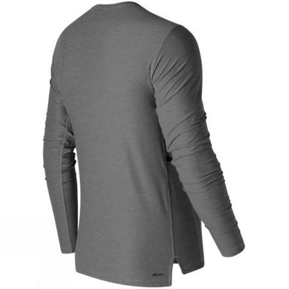 New Balance Mens N Transit Long Sleeve Top Athletic Grey
