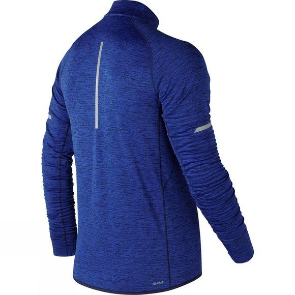 New Balance Mens Heat 1/2 Zip Top Team Royal Heather