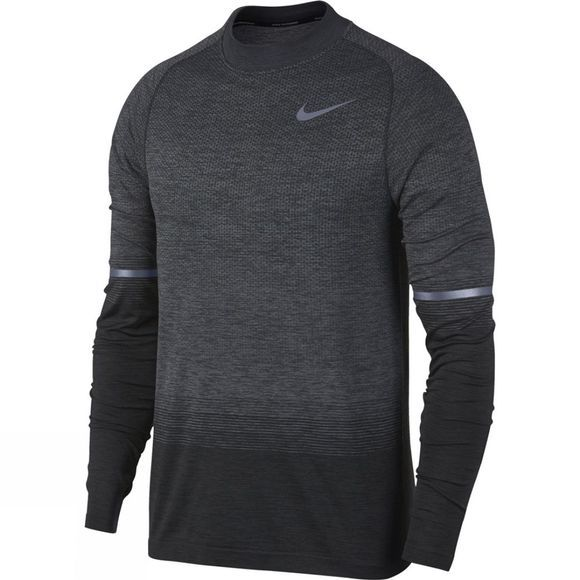 Nike Mens Dri-Fit Knit Long Sleeve Top Anthracite/Wolf Grey/Dark Grey