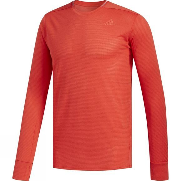Adidas Mens Supernova Long Sleeve Tee Hi-Res Red