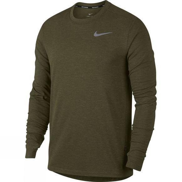 Nike Men's Therma Sphere Top Crew 2.0 Olive Canvas Heather
