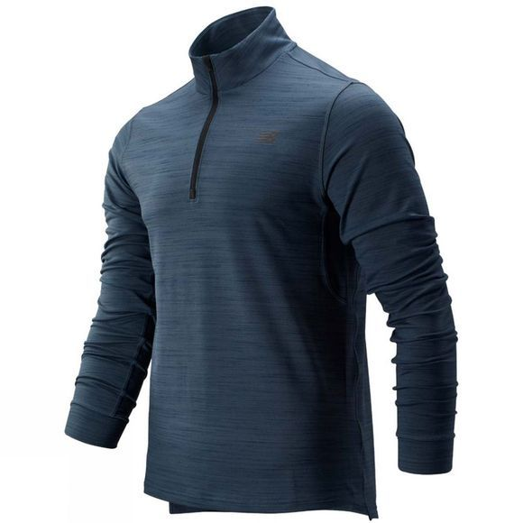 New Balance Men's Anticipate 2.0 1/4 Zip Long Sleeve Top Orion Blue