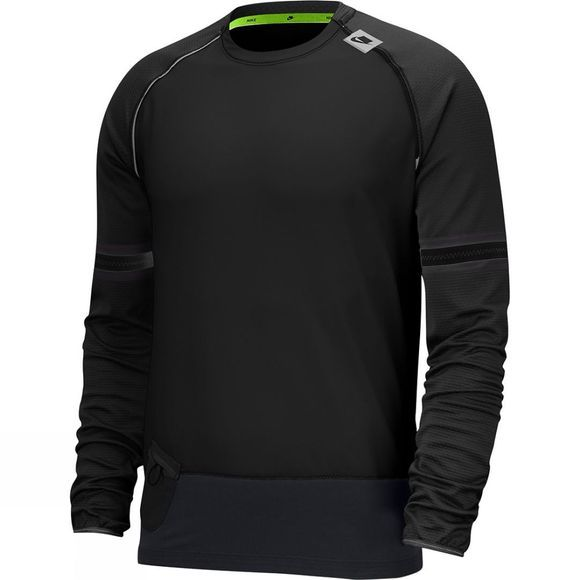 Nike Men's Wild Run Long Sleeve Top Black/Electric Green
