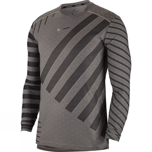 Nike Men's Tech Knit Cool Long Sleeve Top Grey Fog/Black