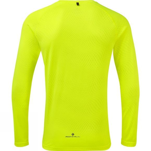 Ronhill Men's Stride Long Sleeve Tee Fluo Yellow