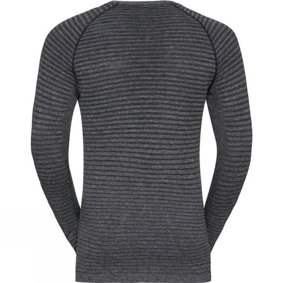 Odlo Mens Seamless Element T-Shirt Long Sleeve Crew Neck Grey Melange