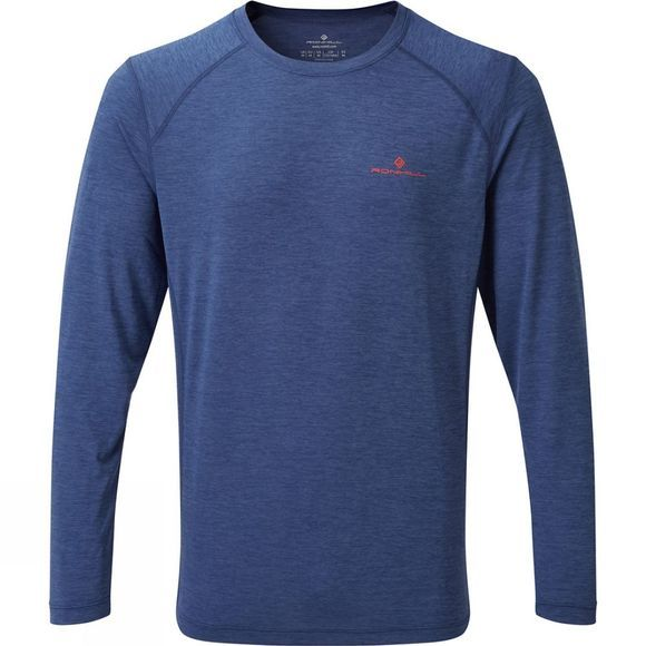 Ronhill Mometum Long Sleeve tee Midnight Blue Marl