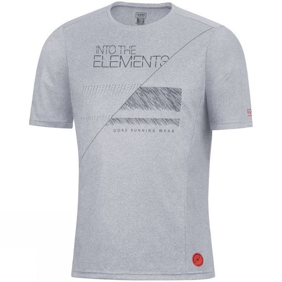 Gore Running Wear 96 Essential Elements Shirt Melange Grey