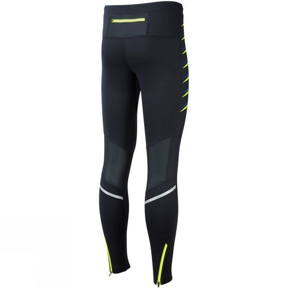 Ronhill Men's Stretch Tight Black/Fluo Yellow