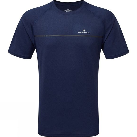 Ronhill Men's Everyday Short Sleeve Tee Midnight Blue Marl