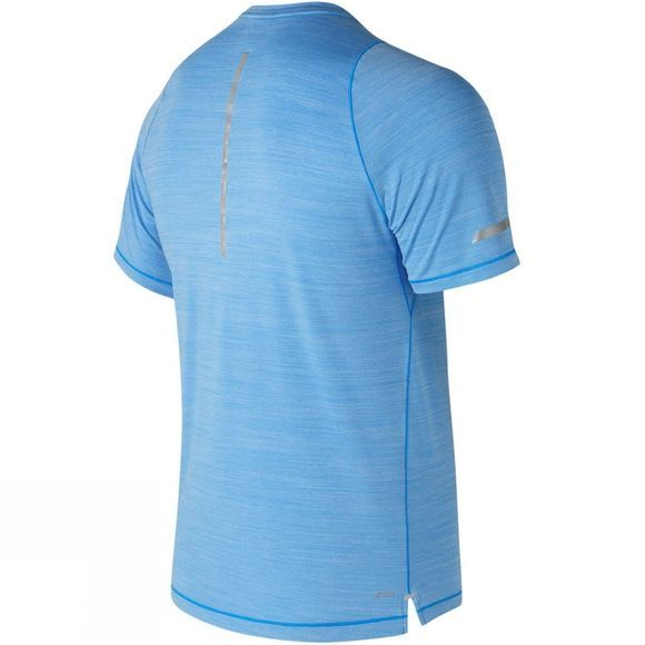 New Balance Mens Seasonless Short Sleeve Shirt Bolt Heather