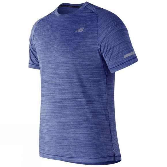 New Balance Mens Seasonless Short Sleeve Shirt Pacific Heather