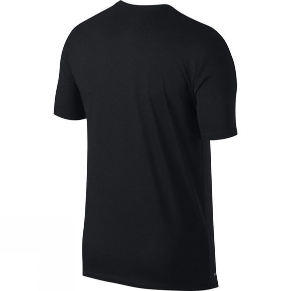 Nike Mens Logo Short Sleeve Tee Black/Total Crimson