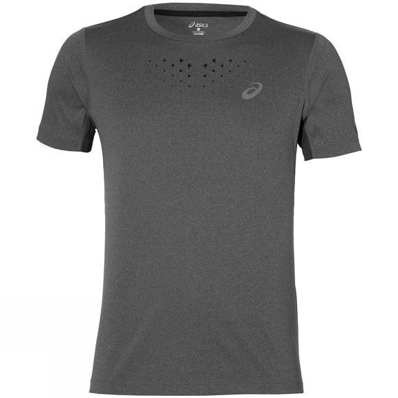 Asics Mens Stride Short Sleeve Top DARK GREY HEATHER