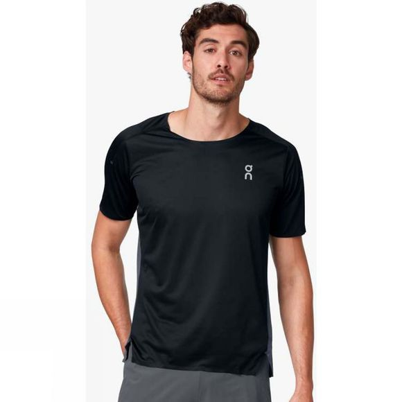 On Mens Performance-T Black Shadow