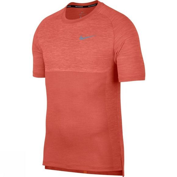 Nike Mens Dry Medalist Running Top Rush Coral/Crimson Pulse