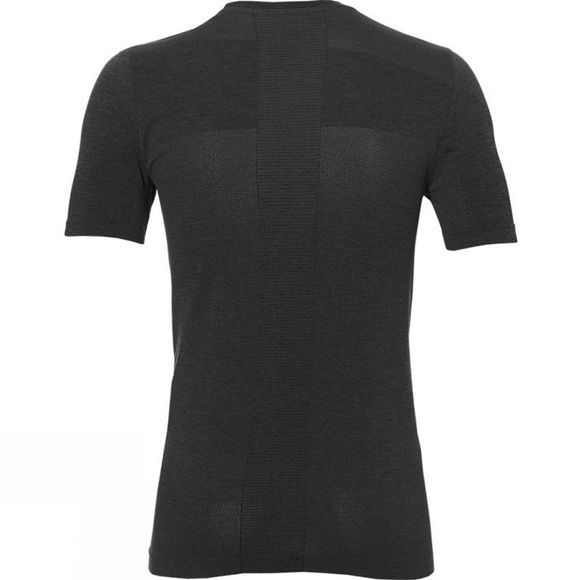 Asics Mens Seamless Short Sleeve Top Dark Grey Heather