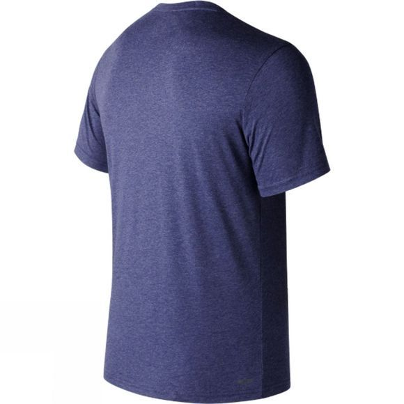 New Balance Mens Short Sleeve Heather Tech Tee Pigment