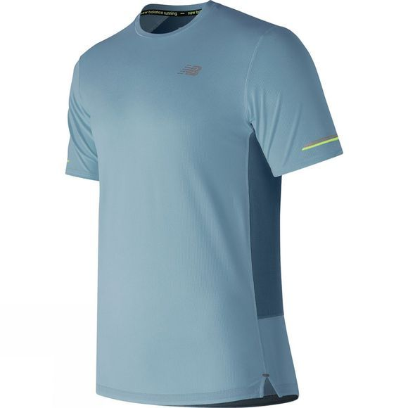 New Balance Mens Ice 2.0 Short Sleeve Top Clear Sky