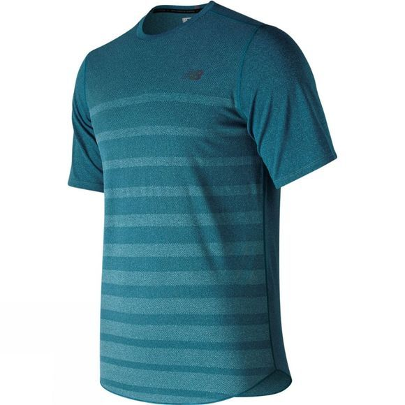 New Balance Mens Q Speed Jacquard Short Sleeve Dark Neptune