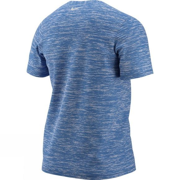 Nike Mens Breathe Rise 365 Short Sleeve Top Signal Blue/Heather/Blue Void