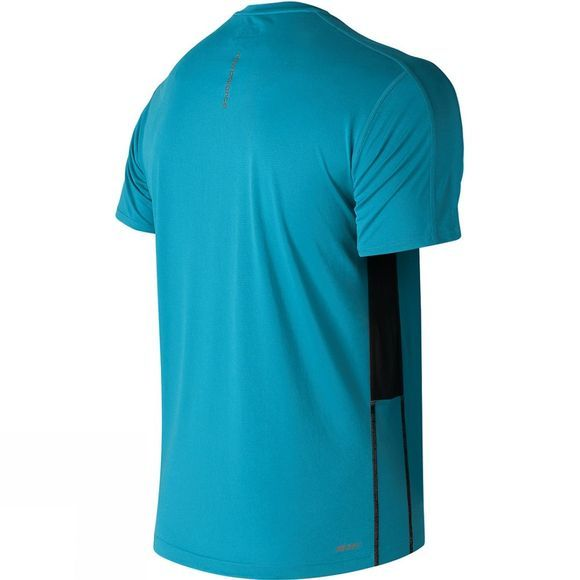 New Balance Mens Accelerate Short Sleeves  Cadet Blue