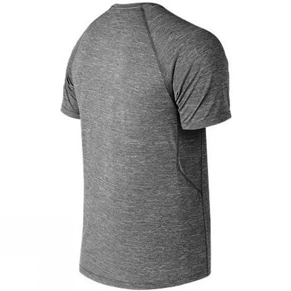 New Balance Mens Tenacity Short Sleeve  Heather Charcoal
