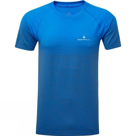 Ronhill Men's Infinity Marathon Short Sleeve Tee Electric Blue/Grey Marl