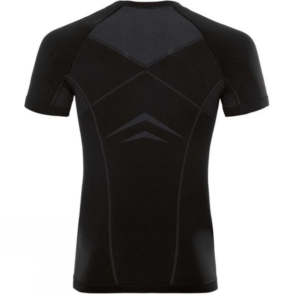 Odlo Men's Performance Light SUW Crew Neck Short Sleeve Top Black/Odlo Graphite Grey