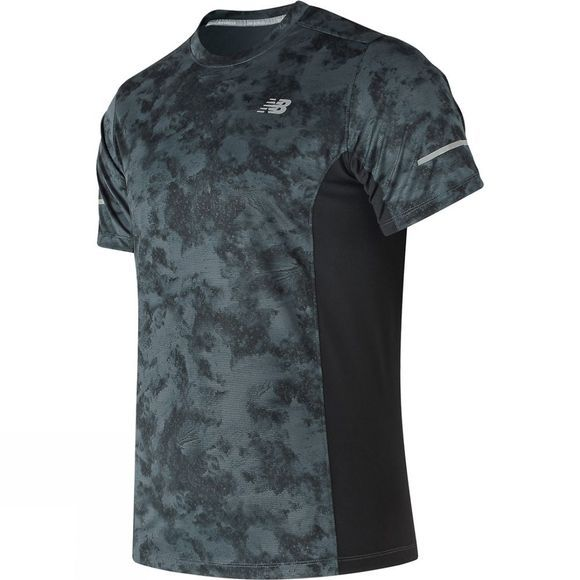 New Balance Men's Graphic Run Tshirt Black