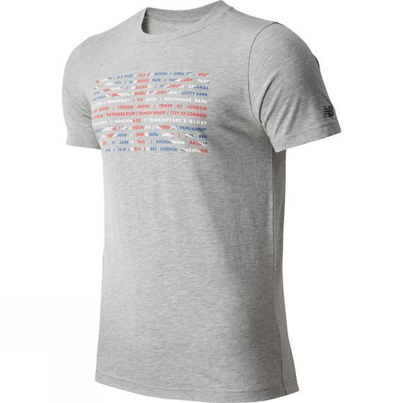 New Balance Men's London Union Jack Short Sleeve Top Grey