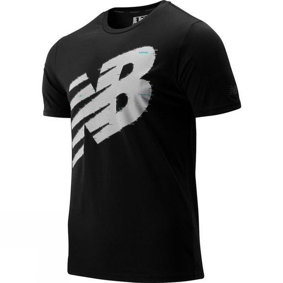 New Balance Men's Graphic Heathertech SS Tee Black