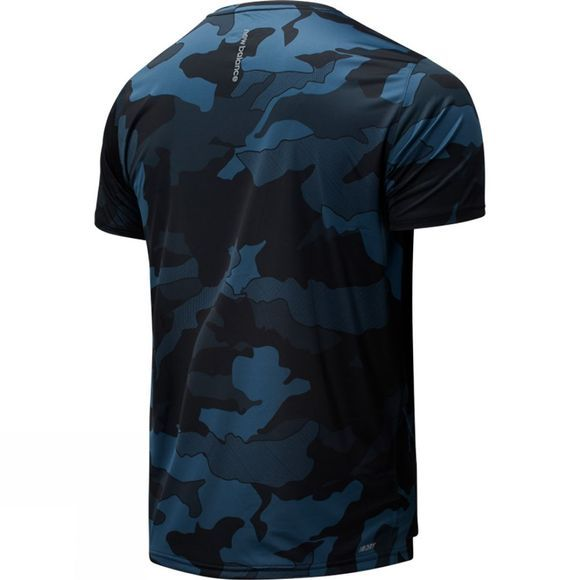 New Balance Men's Printed Accelerate SS Tee Black/Slate