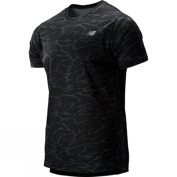New Balance Men's Printed Accelerate SS Tee Slate Green Camo