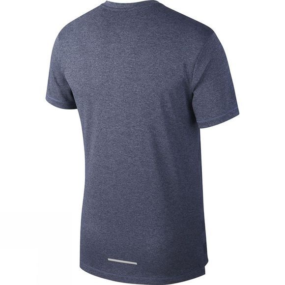 Nike Men's Dry Fit Miler Short Sleeve Top Black/Sanded  Purple