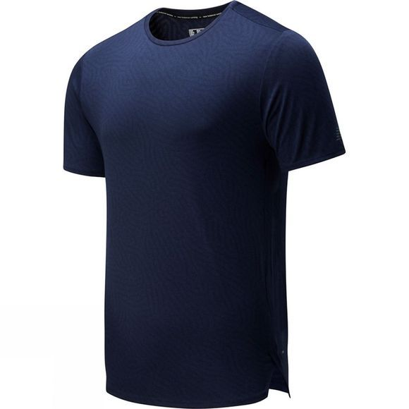 New Balance Q Speed Jacquard Short Sleeve Tee Eclipse Heather