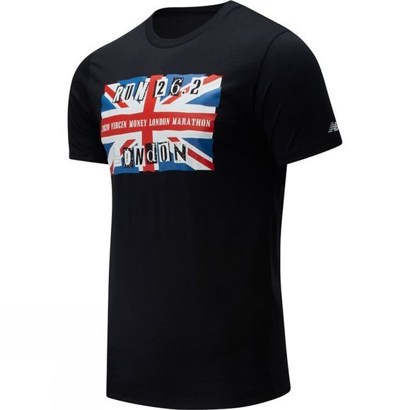 New Balance London Edition Flag Graphic Tee Black