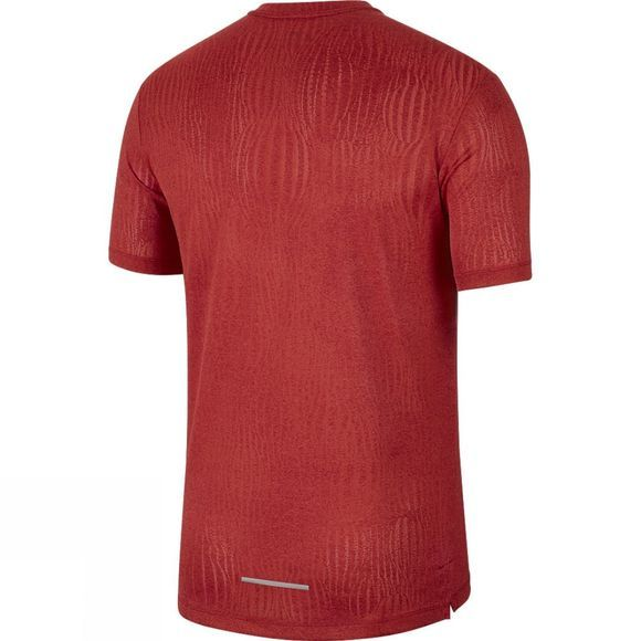 Nike Dry Miler Edge Jaquard Short Sleeve Top Noble Red