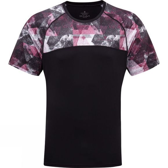 Ronhill Stride Revive Short Sleeve Tee Black/Mulberry