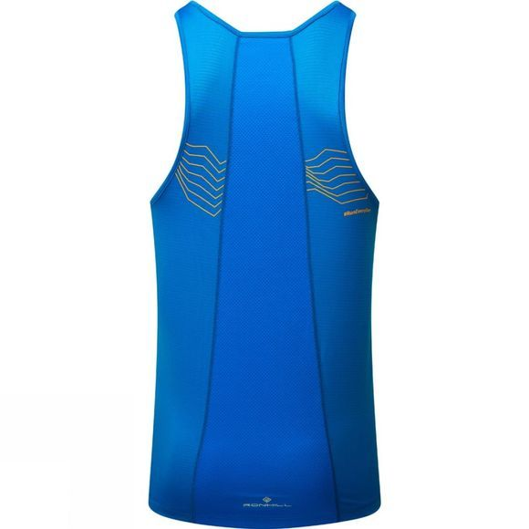 Ronhill Mens Stride Racer Vest Electric Blue/Jaffa