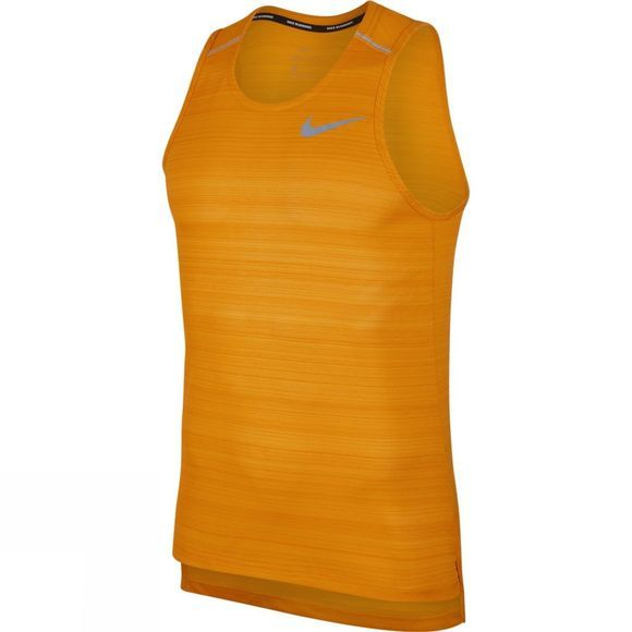 Nike Men's Dri-FIT Miler Running Tank ORANGE PEEL/HTR