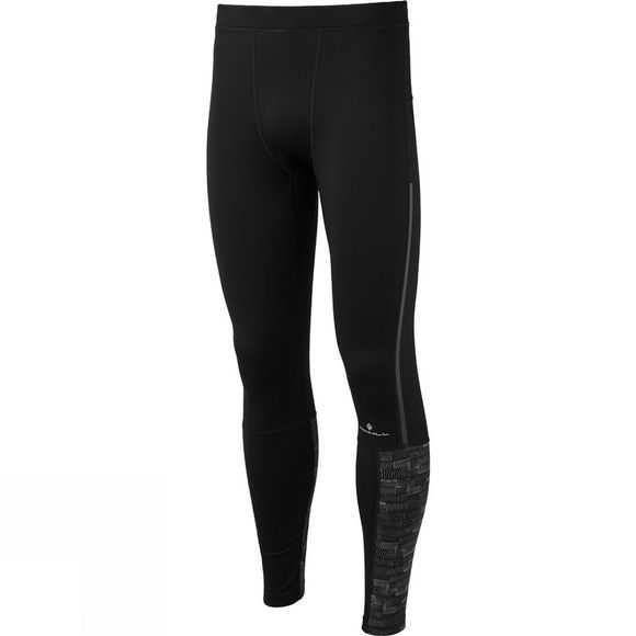 Ronhill Mens Momentum Afterlight Tight Black/Reflect