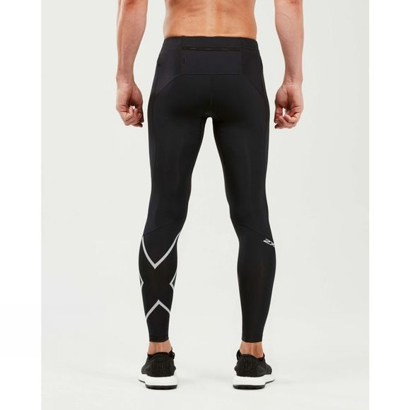 2XU Mens Run Compression Tights Black/Silver