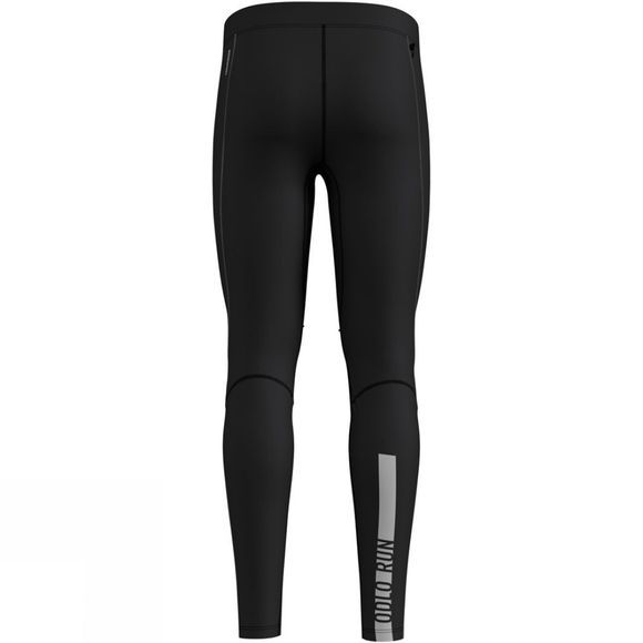Odlo Mens Zeroweight Windproof Warm Tights Black