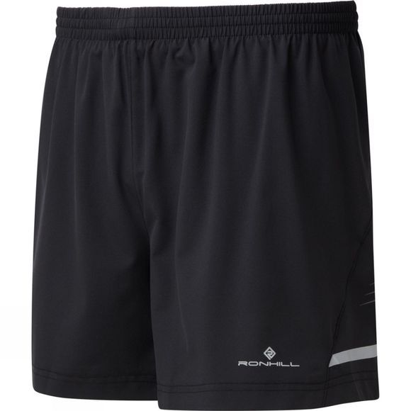 "Ronhill Men's Stride 5"" Short Black/Charcoal/Fluo Yellow"