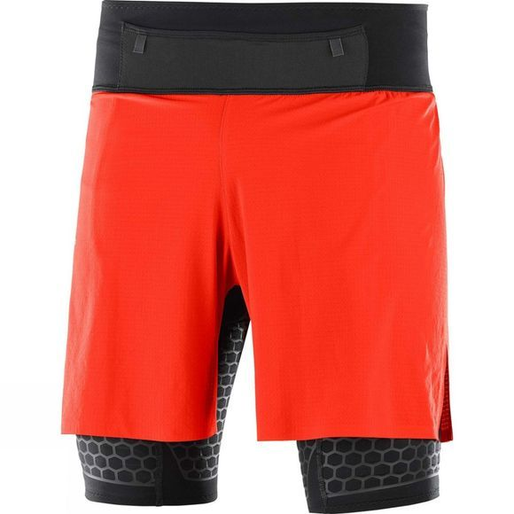 Salomon Men's EXO Twin Skin Shorts Fiery Red/Black