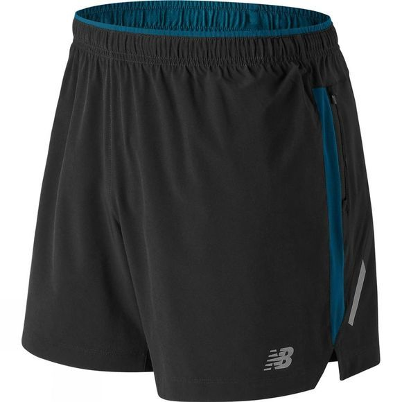 New Balance Mens Impact 5in Shorts Black/Blue
