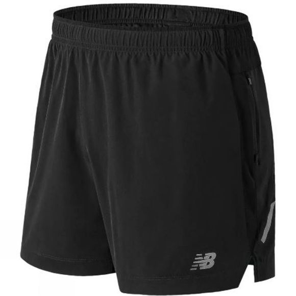 New Balance Mens Impact 5in Shorts Black Multi