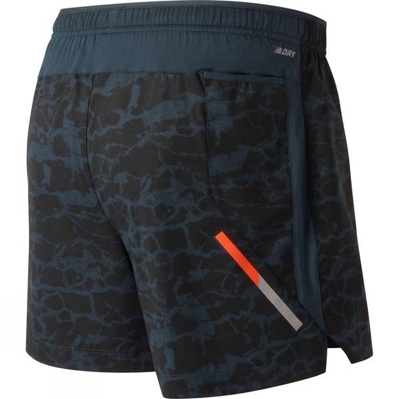 Mens Printed Impact 5in Short
